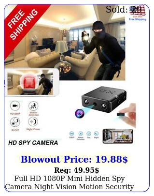 full hd p mini hidden spy camera night vision motion security recording ca