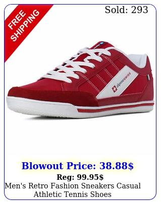 men's retro fashion sneakers casual athletic tennis shoe