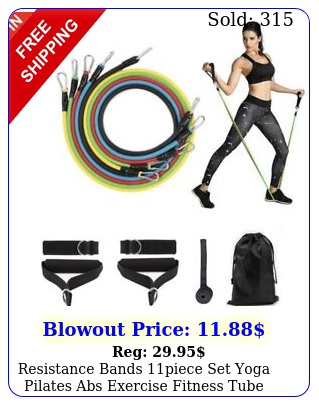 resistance bands piece set yoga pilates abs exercise fitness tube workout ban