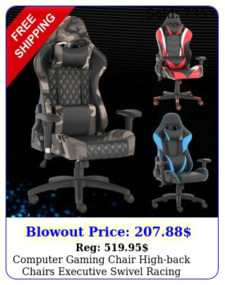 computer gaming chair highback chairs executive swivel racing office furnitur