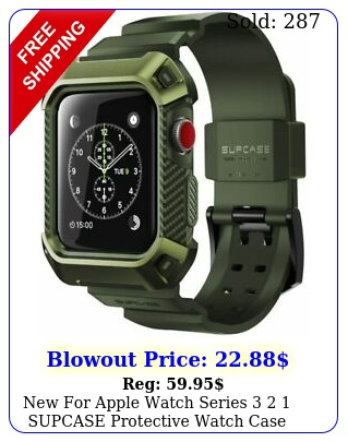 apple watch series  supcase protective watch case with strap band