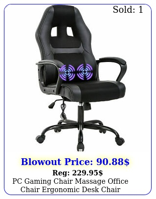 pc gaming chair massage office chair ergonomic desk chair adjustable pu blac