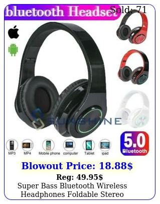 super bass bluetooth wireless headphones foldable stereo earphones headsets mi