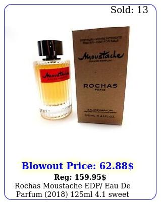 rochas moustache edp eau de parfum ml sweet woody lasting cologn
