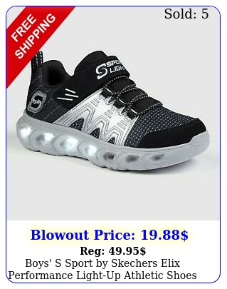boys' s sport by skechers elix performance lightup athletic shoes blac