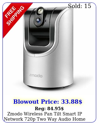 zmodo wireless pan tilt smart ip network p two way audio home security camer