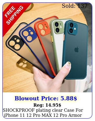shockproof plating clear case iphone  pro max pro armor slim cove