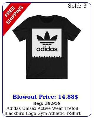 adidas unisex active wear trefoil blackbird logo gym athletic tshir