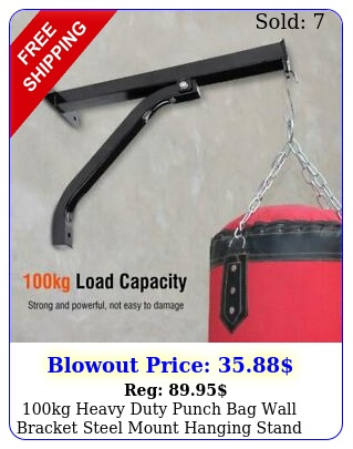 kg heavy duty punch bag wall bracket steel mount hanging stand boxing hange