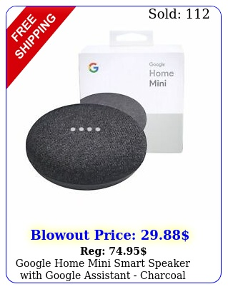 google home mini smart speaker with google assistant charcoa