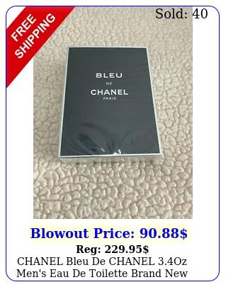 chanel bleu de chanel oz men's eau de toilette brand never use