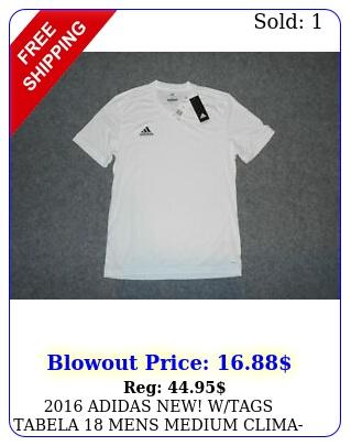adidas new wtags tabela mens medium climalite soccer jerse