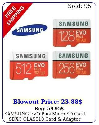 samsung evo plus micro sd card sdxc class card adapter gb gb g