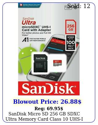 sandisk micro sd gb sdxc ultra memory card class uhsi mbs