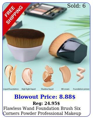 flawless wand foundation brush six corners powder professional makeup brush too