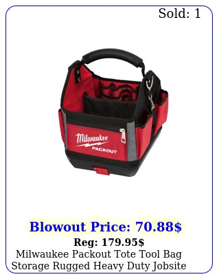 milwaukee packout tote tool bag storage rugged heavy duty jobsite use i