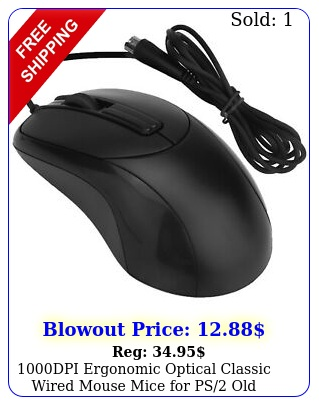 dpi ergonomic optical classic wired mouse mice ps old version compute