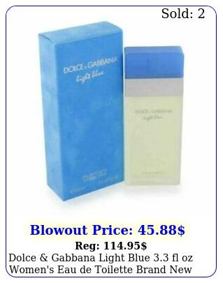 dolce gabbana light blue fl oz women's eau de toilette brand seale