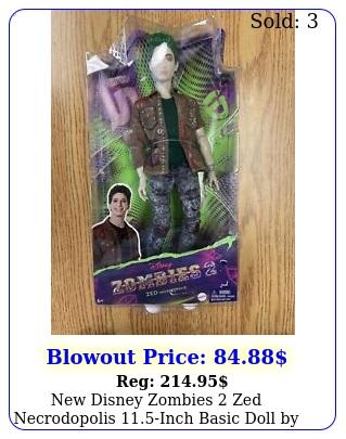 disney zombies zed necrodopolis inch basic doll by mattel flawed bo