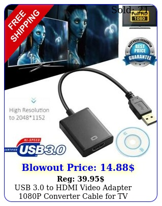 usb to hdmi video adapter p converter cable tv monitor lapto