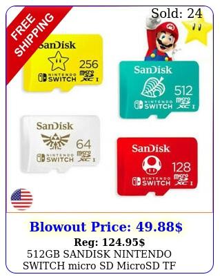gb sandisk nintendo switch micro sd microsd tf memory card lot  sd adapte