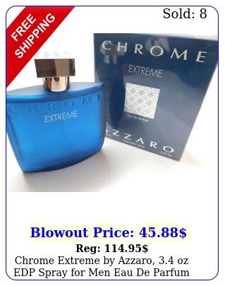 chrome extreme by azzaro oz edp spray men eau de parfum cologn