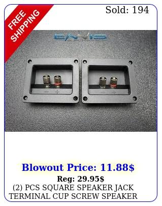 pcs square speaker jack terminal cup screw speaker subwoofer tcs
