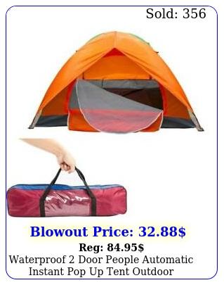 waterproof door people automatic instant pop up tent outdoor camping hikin