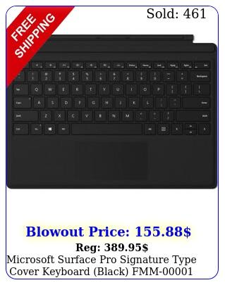 microsoft surface pro signature type cover keyboard black fm