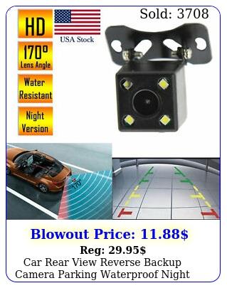 car rear view reverse backup camera parking waterproof night vision hd cmo