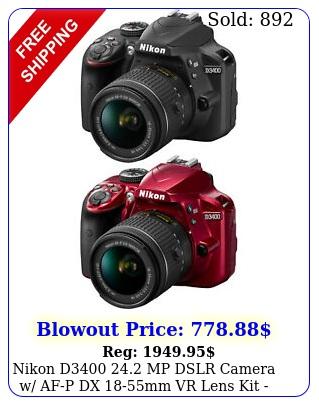 nikon d mp dslr camera w afp dx mm vr lens kit choose colo