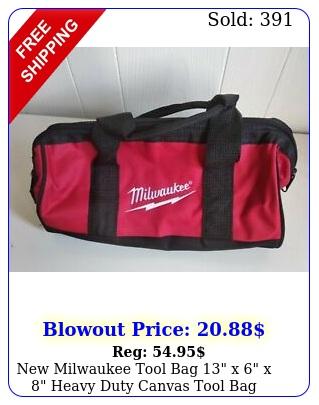 milwaukee tool bag x x heavy duty canvas tool ba
