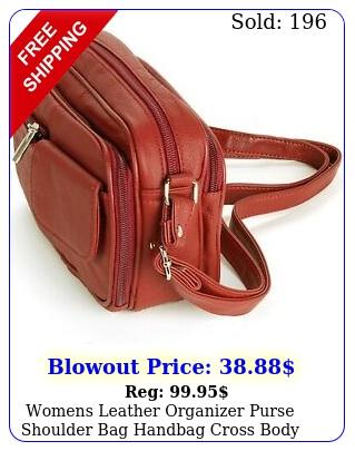 womens leather organizer purse shoulder bag handbag cross body bag large clutc