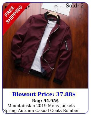 mountainskin mens jackets spring autumn casual coats bomber jacket slim fa