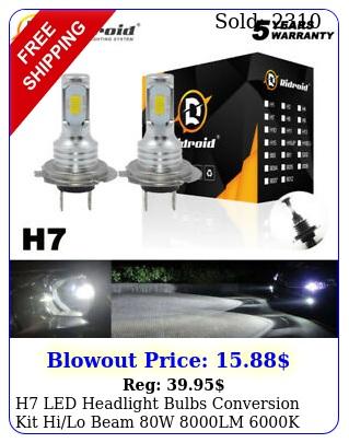 h led headlight bulbs conversion kit hilo beam w lm k super brigh