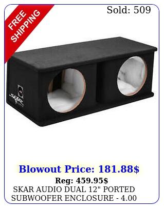 skar audio dual ported subwoofer enclosure  ft  h