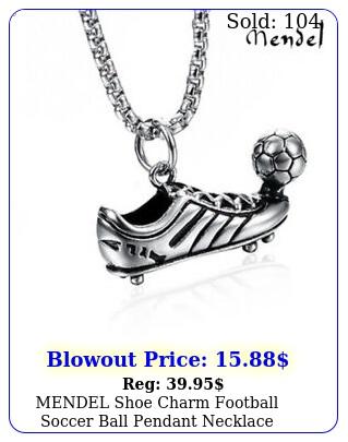 mendel shoe charm football soccer ball pendant necklace stainless steel jewelr