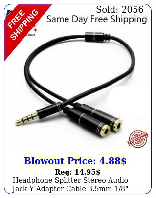 headphone splitter stereo audio jack y adapter cable mm