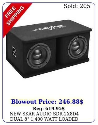 skar audio sdrxd dual  watt loaded ported subwoofer enclosur