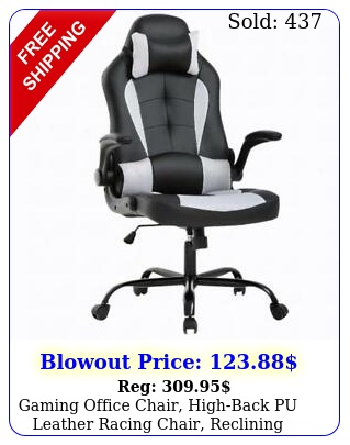 gaming office chair highback pu leather racing chair reclining computer chai