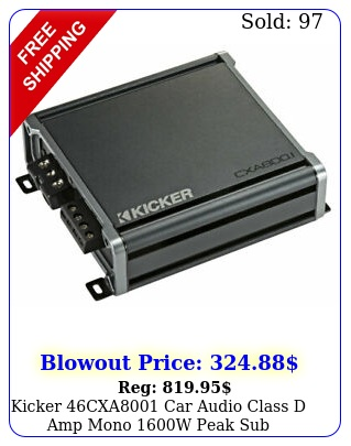 kicker cxa car audio class d amp mono w peak sub amplifier cx