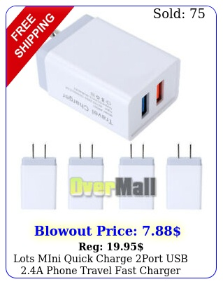 lots mini quick charge port usb a phone travel fast charger adapter us plu