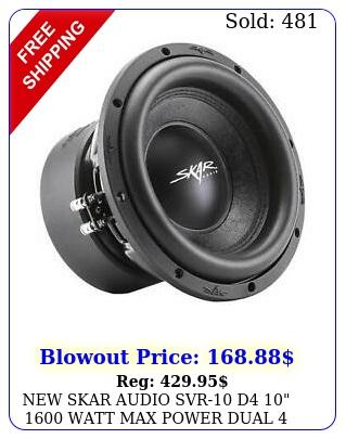 skar audio svr d  watt max power dual ohm car subwoofe