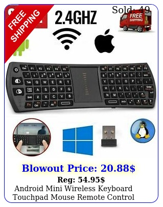 android mini wireless keyboard touchpad mouse remote control rechargabl