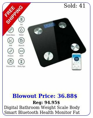 digital bathroom weight scale body smart bluetooth health monitor fat analyzer