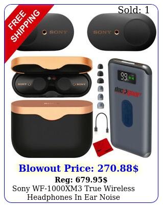 sony wfxm true wireless headphones in ear noise cancellation bundle blac