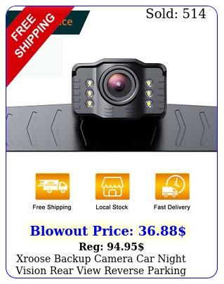 xroose backup camera car night vision rear view reverse parking waterproof