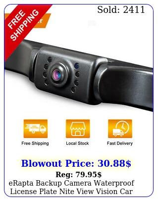 erapta backup camera waterproof license plate nite view vision car reverse rea