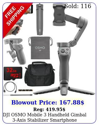 dji osmo mobile handheld gimbal axis stabilizer smartphone essentials comb