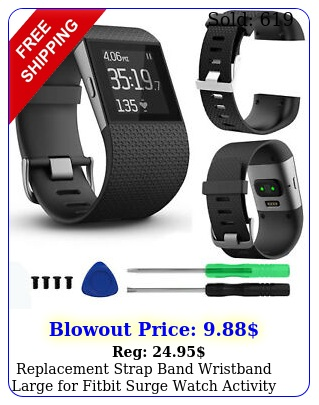 replacement strap band wristband large fitbit surge watch activity tracke